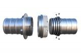 Savice 1,6 m se šroubením Profi-Extra, pr. 110 mm,Stříbrná