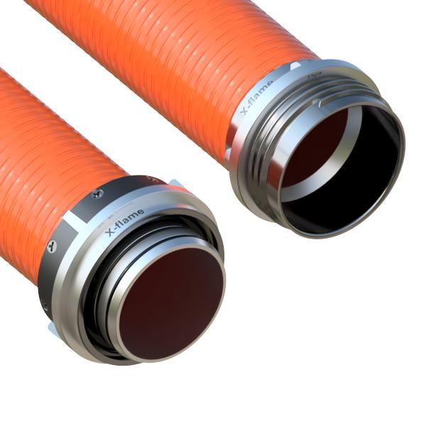 Savice 1,6m se šroubením Profi-Extra,pr.110mm,Flame 50 oranžová s prodloužením bez prstence X-flame