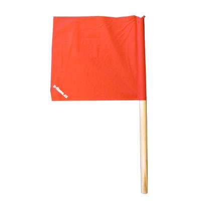 Soutěžní praporek 30 x 30 červený X-flame