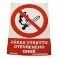 Zákaz výskytu otevřeného ohně