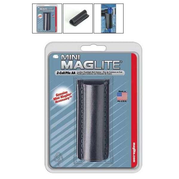 Kožený opaskový nosič pro Mini AA MAG-LITE