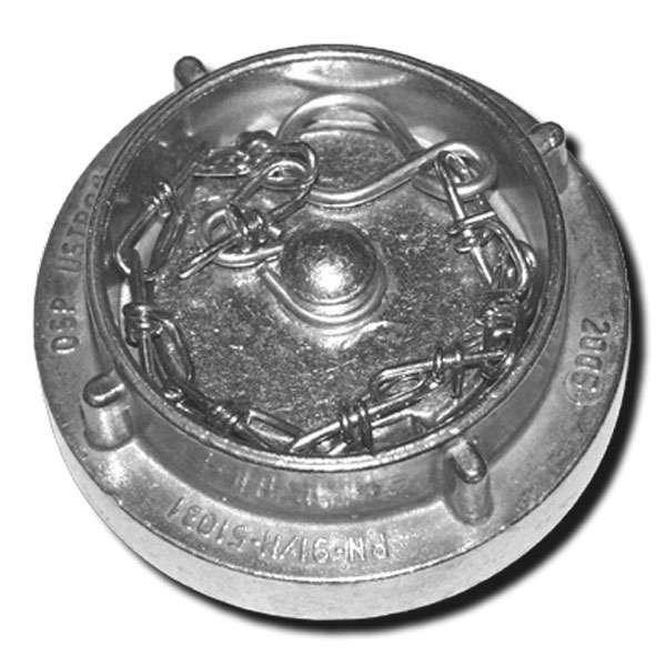 Víčko tlakové spojky C52 s řetízkem