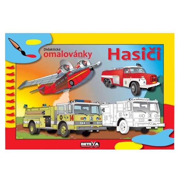 Hasiči - omalovánka 1D