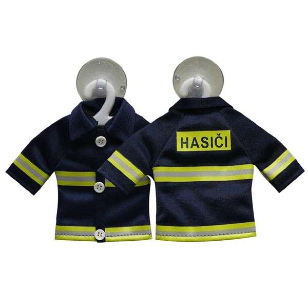 Přívěsek na sklo – hasičská bunda