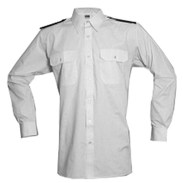 Košile bílá dlouhý rukáv SDH + modré výložky