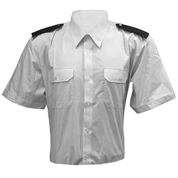 Košile bílá krátký rukáv SDH + modré výložky