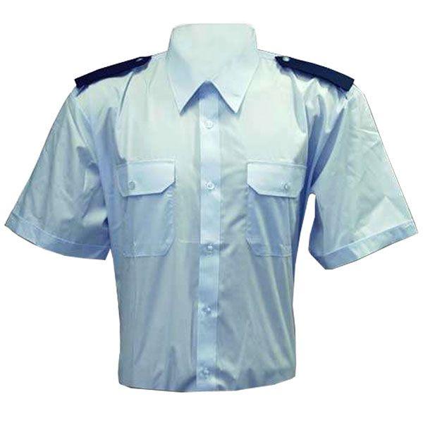 Košile modrá krátký rukáv SDH + modré výložky