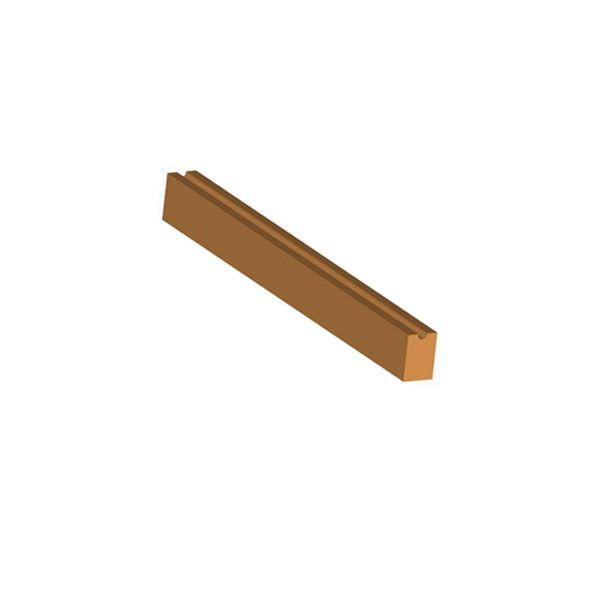 Dřevěná příčle s drážkou