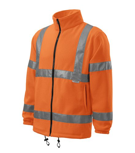 Reflexní bunda fleece se zipem