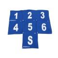 Sada startovních čísel 1-6+S(strojník) jednobarevné