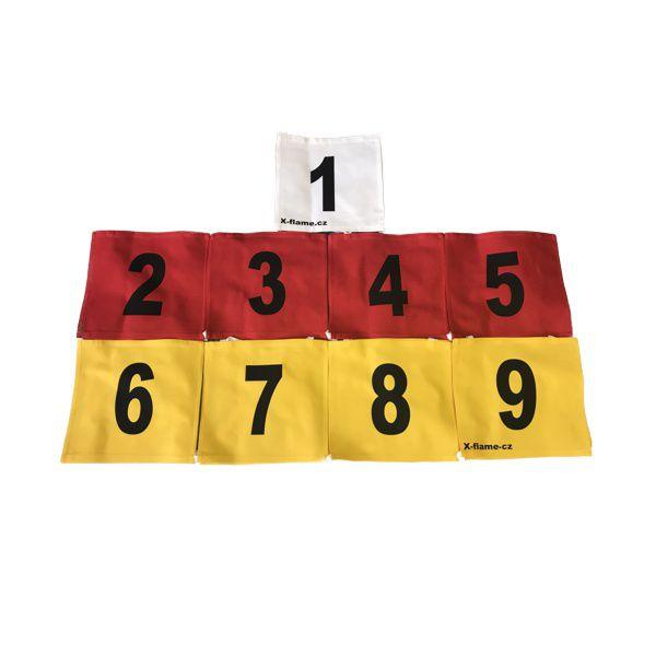 Sada startovních čísel pro děti X-flame