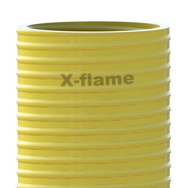 Savicový material 2,4 m, pr. 105 mm, Flame 45 žlutý