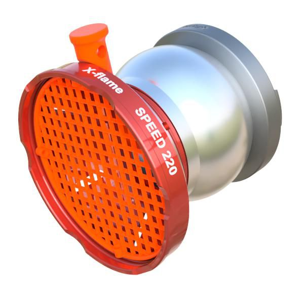 Sací koš SPEED 220 s maticí DIN X-flame