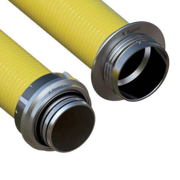 Savice 1,6 m se šroubením Profi-Extra, pr. 110 mm, Flame 45 žlutá s prodlouženou košovkou