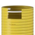 Savice 1,6 m se šroubením Profi-Extra,pr. 110 mm, Flame 45 žlutá naklapávací košovkou bez prstence