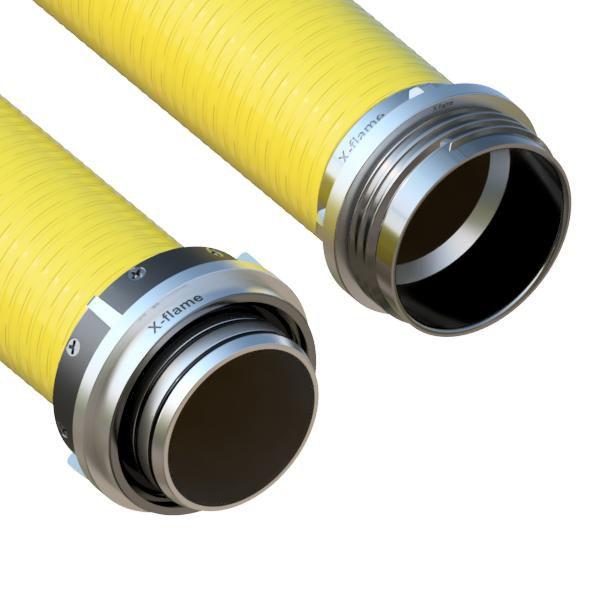 Savice 1,6m se šroubením Profi-Extra,pr.110mm,Flame 50 žlutá s ... X-flame