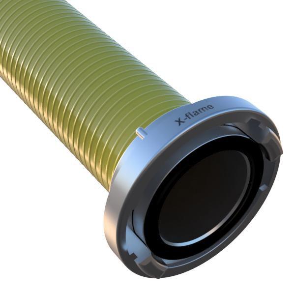 Savice 2,5 m se spojkou A110 DIN, pr. 110 mm, Flame 45 - žlutá