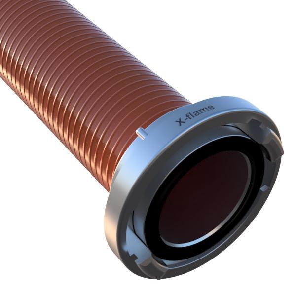 Savice 2,5 m se spojkou A110 DIN, pr. 110 mm, Flame 50 - oranžová
