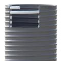 Savice 2,5 m se šroubením Profi-Extra, pr. 110 mm stříbrná s prodlouženou košovkou