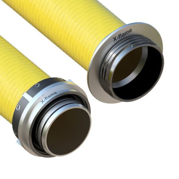 Savice 2,5 m se šroubením Profi-Extra pr. 110Mm, Flame 45 žlutá s prodlouženou košovkou