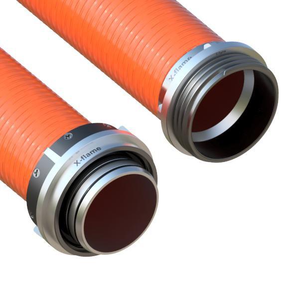 Savice 2,5m se šroubením Profi-Extra,pr.110mm,Flame 50 oranžová s naklapávací košovkou bez prstence X-flame