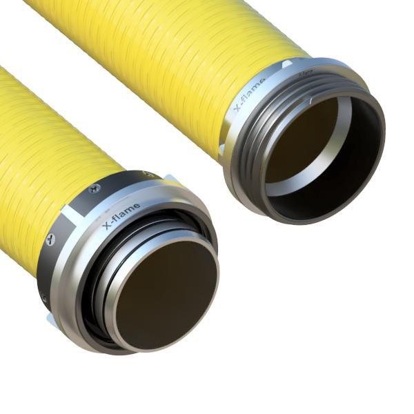 Savice 2,5m se šroubením Profi-Extra,pr.110mm,Flame 45 žlutá s naklapávací košovkou bez prstence