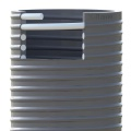 Savice 2,5m se šroubením Profi-Extra,pr.110mm,Stříbrná s naklapávací košovkou s prstencem