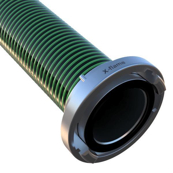 Savice1,6m se šroubením A110 DIN zelená - Flame 75