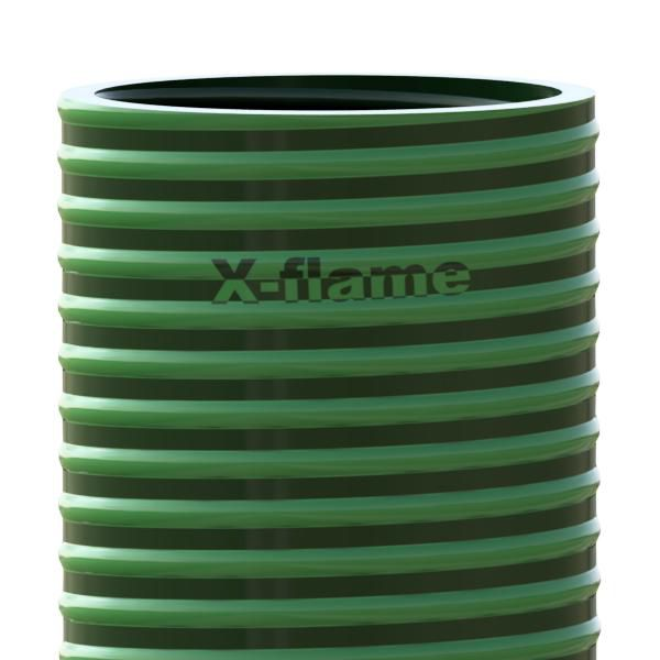 Savicový materiál 2,4 m, pr. 105 mm, Flame 75 zelený
