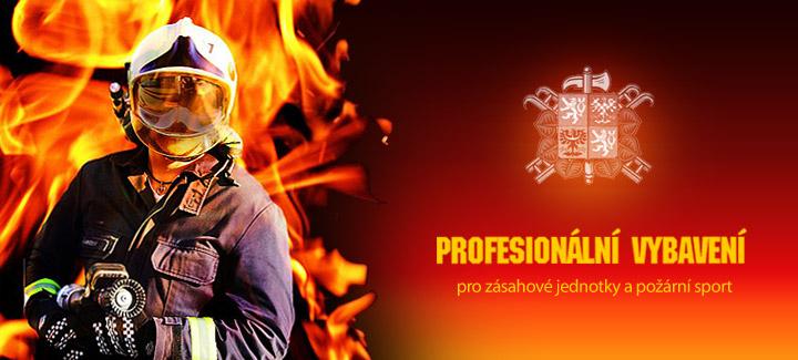 Profesionální vybavení pro hasiče